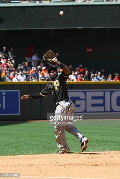 Pittsburgh Pirates third baseman Josh Harrison during the Major League Baseball game between the Arizona Diamondbacks and the Pittsburgh Pirates at...