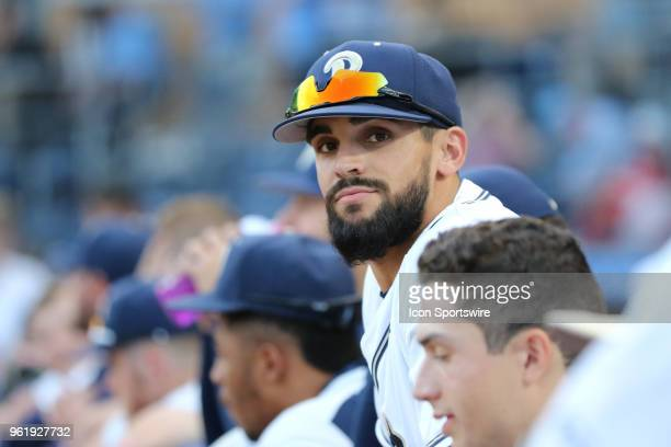 Pittsburgh pitcher Lucas Maldonado during the ACC Baseball Championship game between the North Carolina Tar Heels and Pittsburgh Panthers and the on...