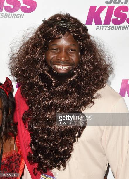 Pittsburgh Steeler Arthur Moats backstage during the Kiss 961 Halloween Party 2017 at Stage AE on October 27 2017 in Pittsburgh Pennsylvania