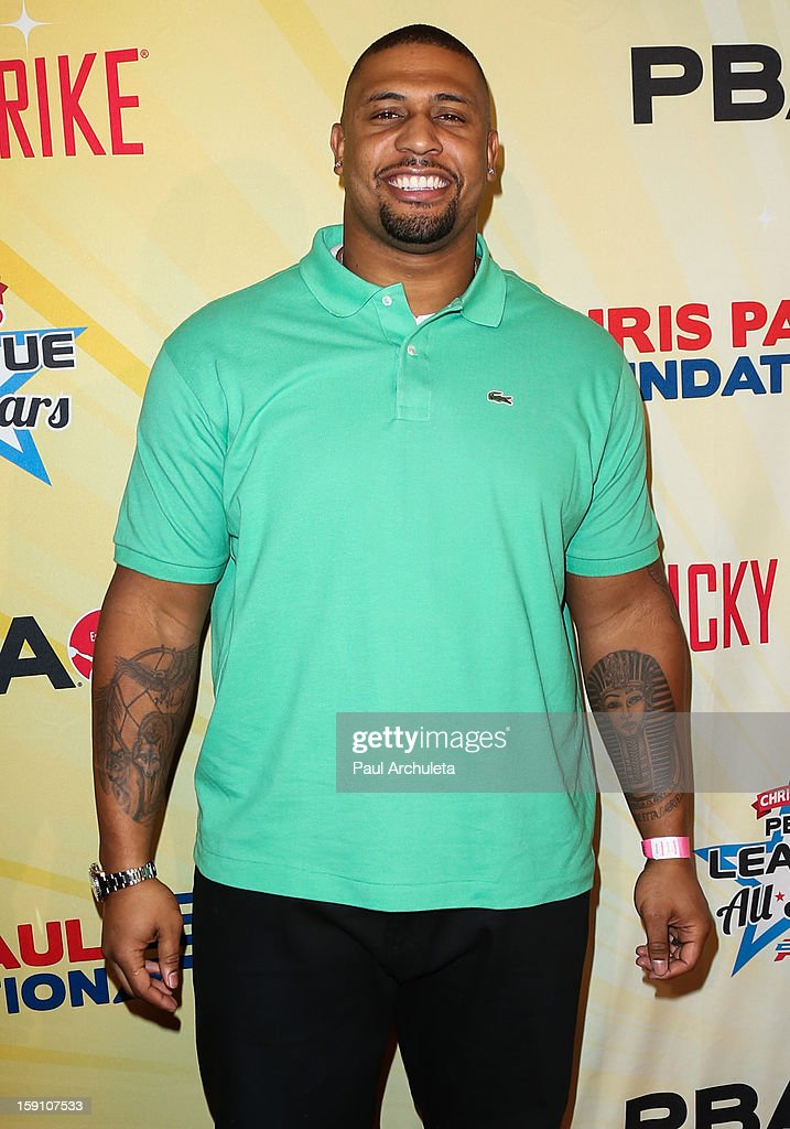 Pittsburgh Steeler LaMarr Woodley attends the 5th annual Chris Paul PBA All-Stars charity tournament at Lucky Strike Lanes at L.A. Live on January 7, 2013 in Los Angeles, California.