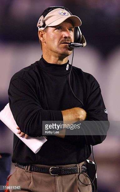 Pittsburgh Steelers coach Bill Cowher watches from the sidelines during 2422 victory over the San Diego Chargers in Monday Night Football game at...