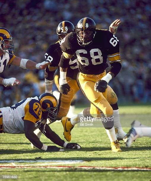 Pittsburgh Steelers defensive end LC Greenwood during a 3119 win over the Los Angeles Rams in Super Bowl XIV on January 20 1980 at Rose Bowl