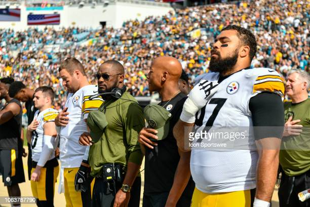 Pittsburgh Steelers defensive tackle Cameron Heyward Pittsburgh Steelers linebacker Ryan Shazier Pittsburgh Steelers head coach Mike Tomlin and...
