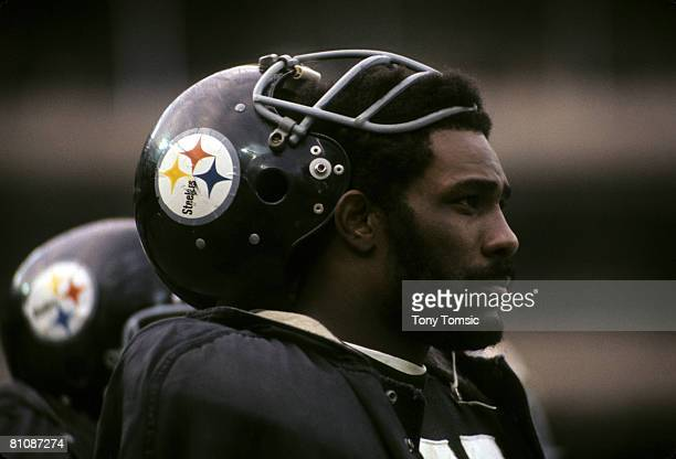 Pittsburgh Steelers Hall of Fame defensive tackle Joe Greene during the AFC Divisional Playoff a 3214 victory over the Buffalo Bills on December 22...