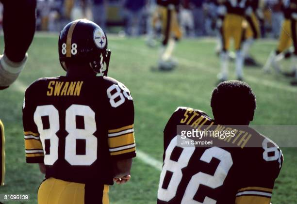 Pittsburgh Steelers Hall of Fame wide receiver Lynn Swann and Hall of Fame wide receiver John Stallworth during a 357 loss to the San Diego Chargers...