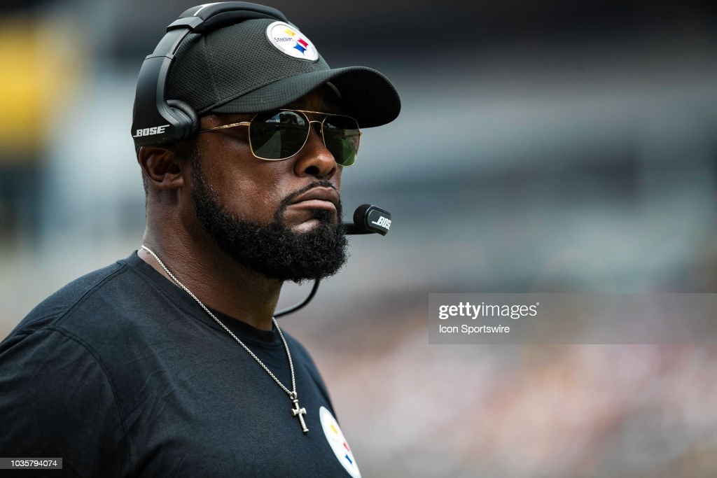 Pittsburgh Steelers Head Coach Mike Tomlin Looks On During