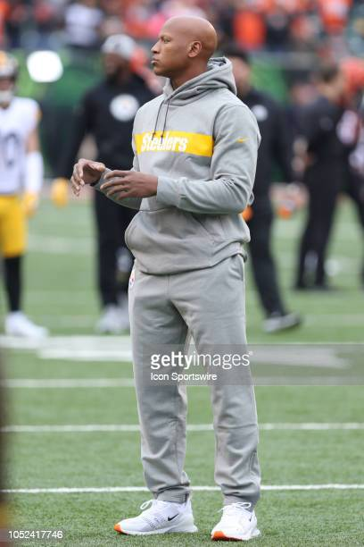 Pittsburgh Steelers linebacker Ryan Shazier before the game against the Pittsburgh Steelers and the Cincinnati Bengals on October 14th 2018 at Paul...