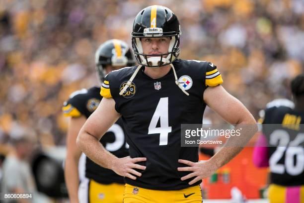 Pittsburgh Steelers punter Jordan Berry looks on during the game between the Jacksonville Jaguars and the Pittsburgh Steelers on October 8 2017 at...