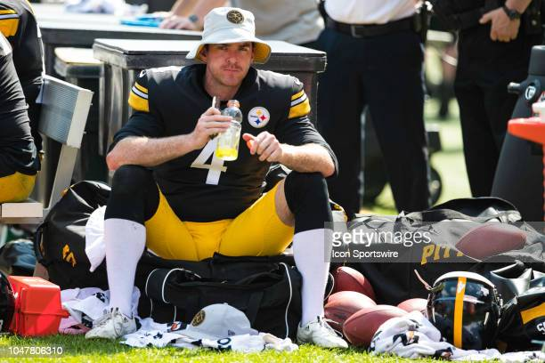 Pittsburgh Steelers punter Jordan Berry looks on during the NFL football game between the Atlanta Falcons and the Pittsburgh Steelers on October 7...