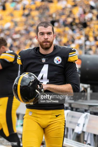 Pittsburgh Steelers punter Jordan Berry looks on in the first half during the preseason game between the Pittsburgh Steelers and the Tennessee Titans...