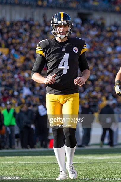 Pittsburgh Steelers Punter Jordan Berry takes the field to punt during the second quarter of the National Football League game between the Cleveland...