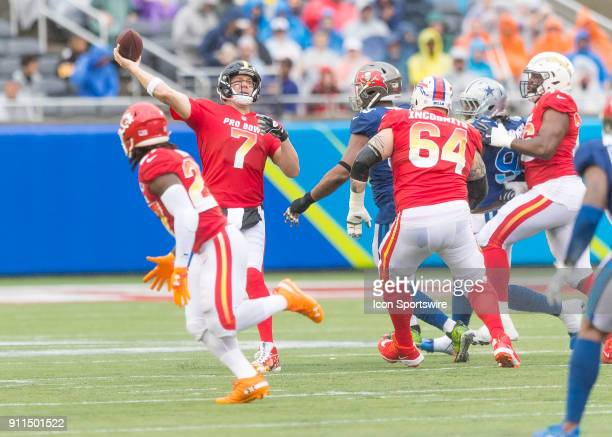 Pittsburgh Steelers quarterback Ben Roethlisberger throws a pass During the NFL Pro Bowl match between the AFC NFC on January 28 2018 at Camping...