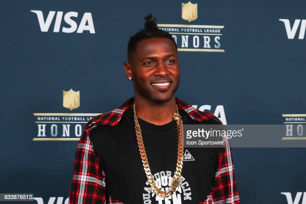 Pittsburgh Steelers wide receiver Antonio Brown on the Red Carpet at the 2017 NFL Honors on February 04 at the Wortham Theater Center in Houston Texas