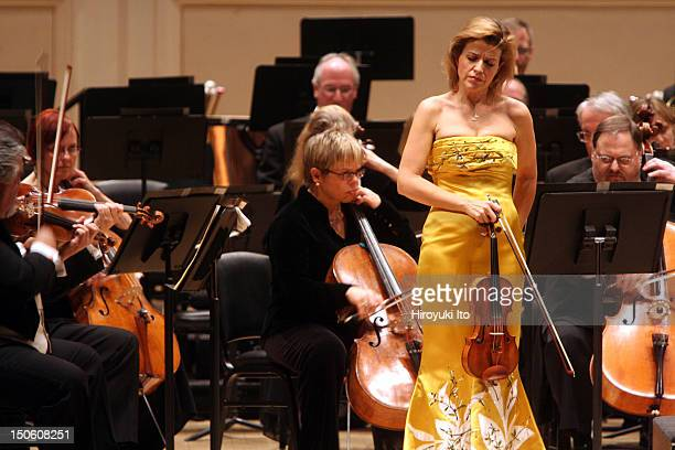 Pittsburgh Symphony Orchestra at Carnegie Hall on Tuesday night February 9 2010This imageAnneSophie Mutter performing Brahms's Violin Concerto in D...