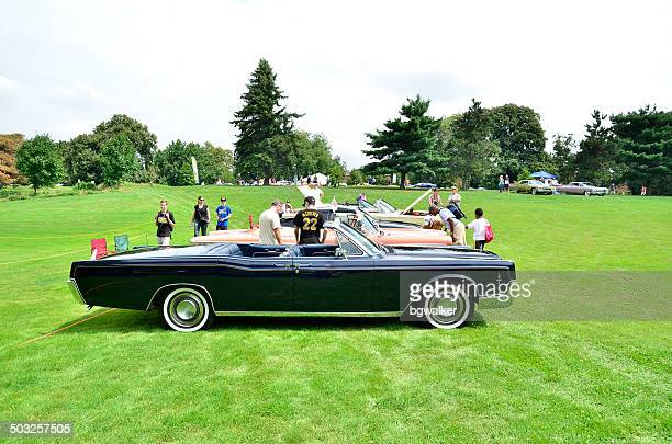 pittsburgh vintage grand prix - lincoln continental stock photos and pictures