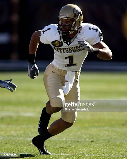 Pittsburgh WR Larry Fitzgerald tries to get open during the first quarter at the Continental Tire Bowl December 27 at Ericsson Stadium Charlotte...