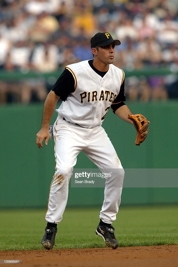 Pittsburghs' Jack Wilson sets himself against Milwaukee at PNC Park in Pittsburgh, Pennsylvania July 3, 2004
