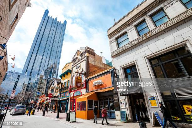 pittsburgh's market square - pittsburgh stock pictures, royalty-free photos & images
