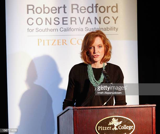 Pitzer College President Laura Skandera Trombley attends the naming of Pitzer College's new Conservancy at Los Angeles Press Club on November 19 2012...