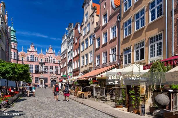 Piwna Street in Old Town in Gdansk, Poland