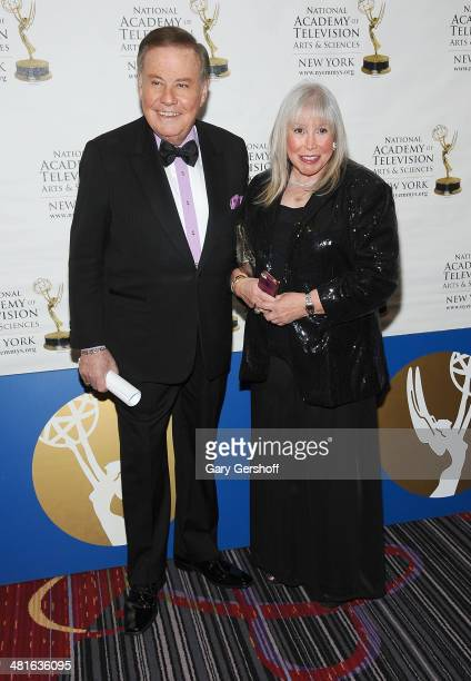 Pix 11 Senior Correspondent Marvin Scott and wife Lorri Scott attend The 57th Annual New York Emmy Awards at The Marriott Marquis Times Square on...