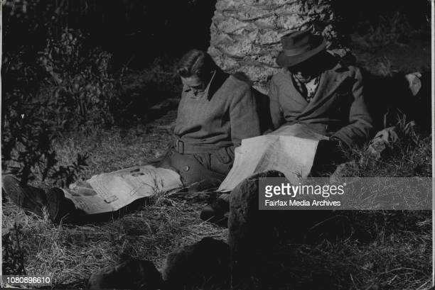 Pix for Leader page story on the City Night RefugeBut these were out of luck and spent the night in Petersham Park July 18 1956