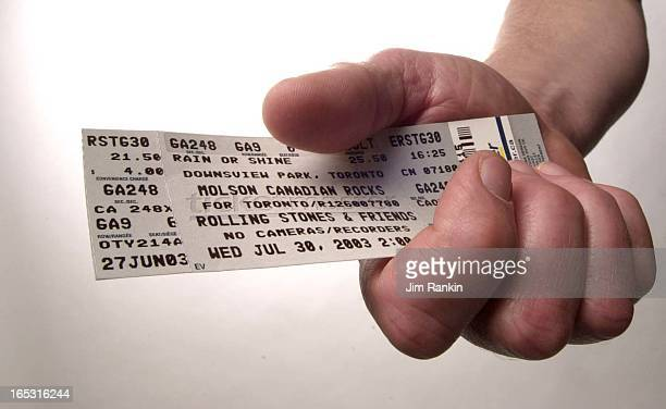 Pix of a ticket to upcoming Rolling Sones concert at Downsview For front page throw