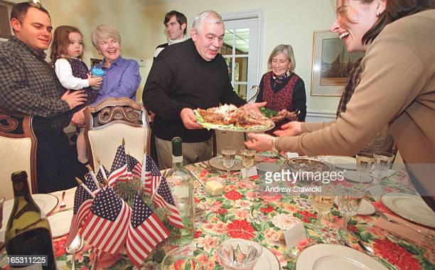 pix of Bill Myers serving Thanksgiving dinner Roseanne Myers has lived here for 33 years but she retains her US citzenship and she wants her...