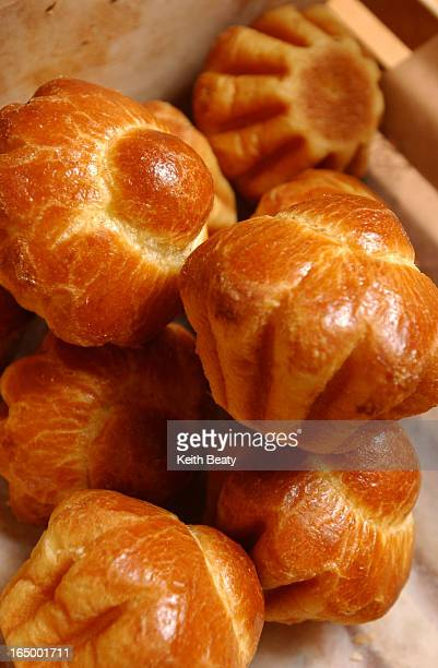 Pix of brioche plus owners Frantois and Sonia Rahier Loads of pretty cakes and pastries as well