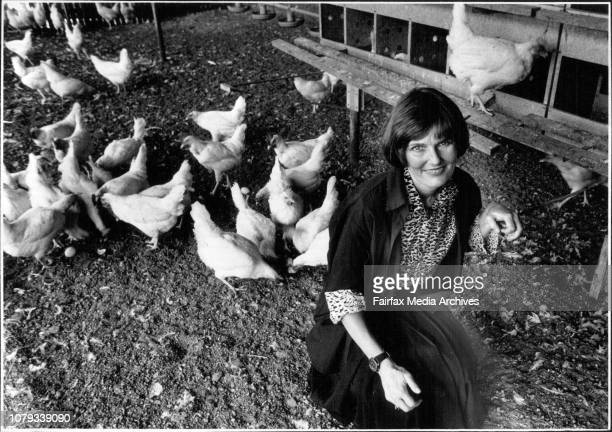 Pix of Christine Townend on Alex Schembri's Free Range Egg Farm at VineyardChristine is running for Parliament and will represent Hard Done By...