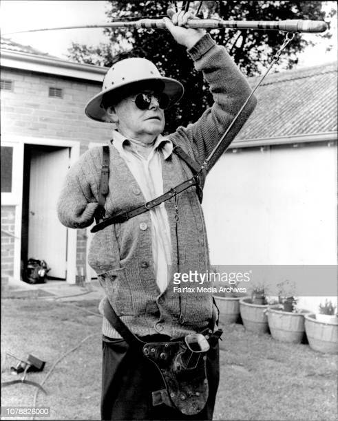 Pix of Dan Daly of Boxley who has invented gadgets for handicaped fisherman Mr Daly demonstrates his invention for one armed fisherman Top angler Dan...
