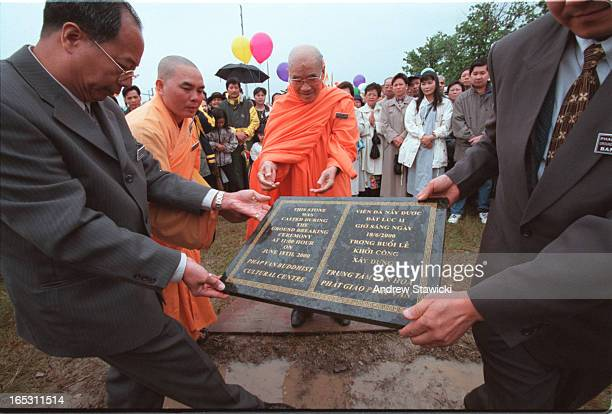Pix of the Ground Breaking Ceremony to lay the First Stone pix of The most venerable THICHTAM CHAU at the main mass and ground breaking ceremony to...