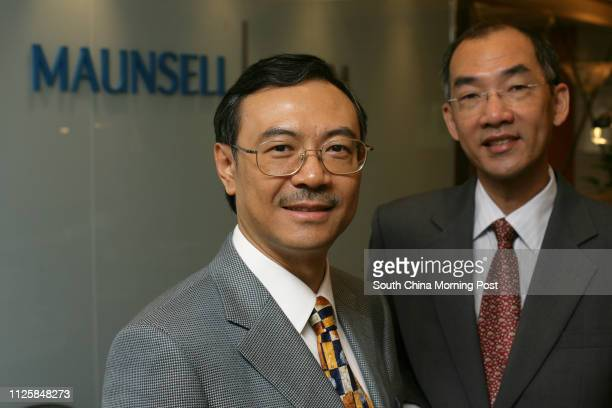 Pix of Tony Shum chief executive of Maunsell AECOM Group and David Lee managing director of Maunsell Structural Consultants at Sha Tin 23 May 2006