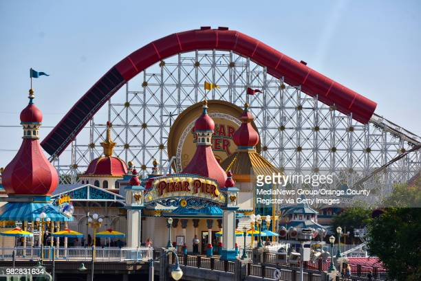 Pixar Pier in Disney California Adventure Park in Anaheim CA on Thursday June 21 2018