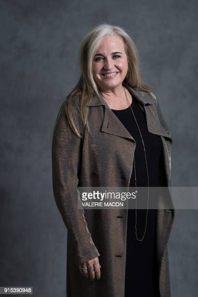 Pixar Producer Darla K Anderson poses for portraits during the Academy Awards annual nominees luncheon for the 90th Oscars at the Beverly Hilton...