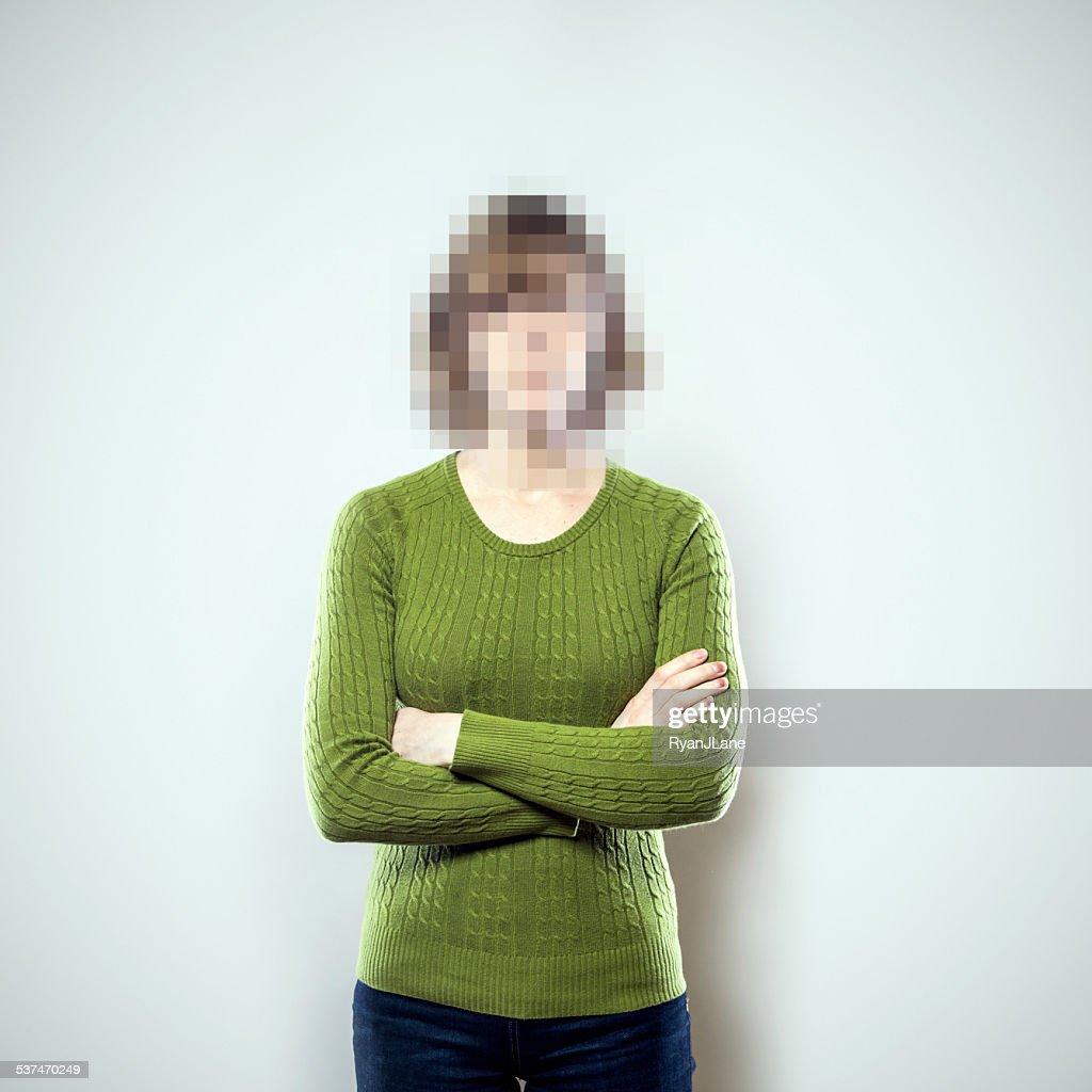 Pixel Personen Series : Stock-Foto