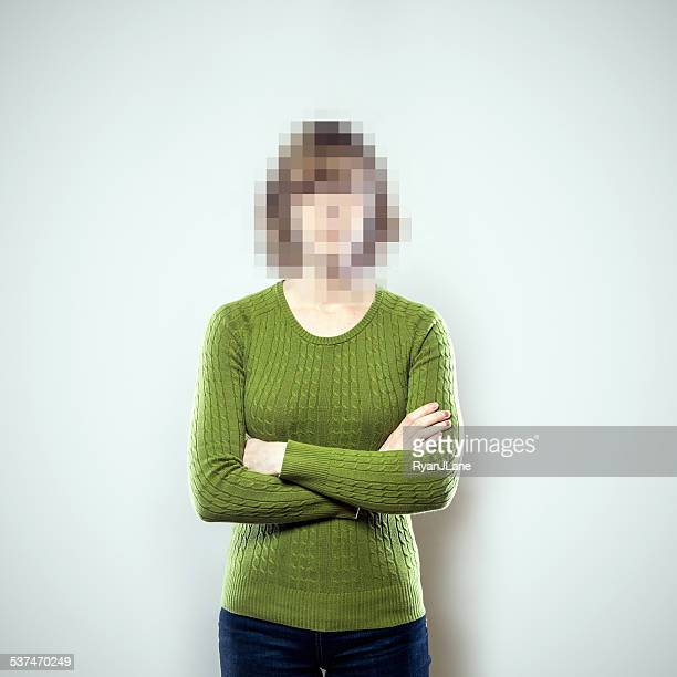 pixel people series - unrecognizable person stock pictures, royalty-free photos & images