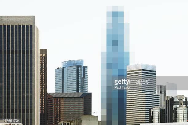 Pixelated Building in Skyline