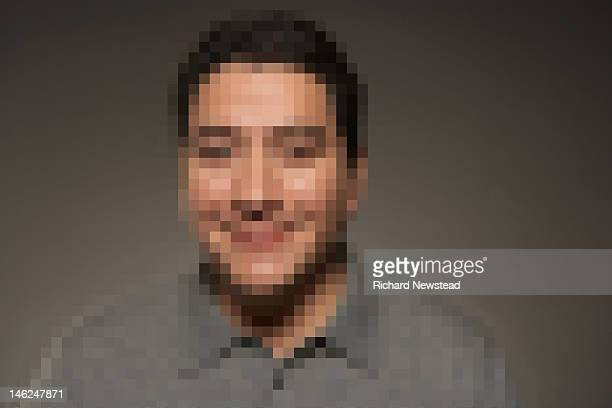 pixelated man - pixels stock photos and pictures