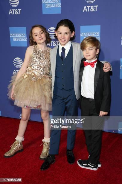 Pixie Davies, Nathanael Saleh, and Joel Dawson attend the 30th Annual Palm Springs International Film Festival Film Awards Gala at Palm Springs...