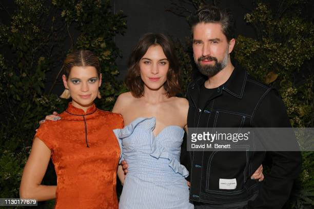 Pixie Geldof Alexa Chung and Jack Guinness attend a private dinner to celebrate the launch of the new ALEXACHUNG x Sunglass Hut eyewear collection at...