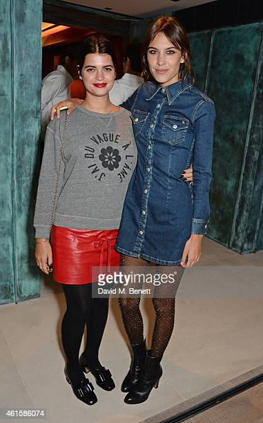 Pixie Geldof and Alexa Chung attend an intimate party hosted by Alexa Chung to celebrate the global launch of the Alexa Chung for AG collection at...