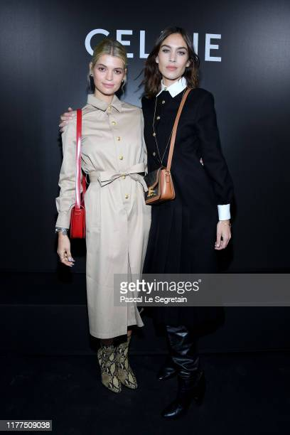 Pixie Geldof and Alexa Chung attend the Celine Womenswear Spring/Summer 2020 show as part of Paris Fashion Week on September 27, 2019 in Paris,...