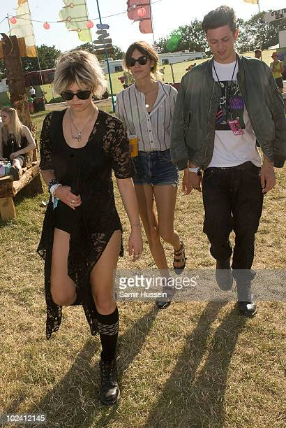 Pixie Geldof and Alexa Chung attend the Glastonbury Festival on June 25 2010 in Glastonbury England Glastonbury has become Europe's largest music...
