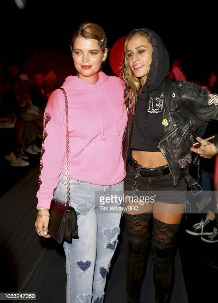 Pixie Geldof and Alice Dellal attend the Ashley Williams presentation during London Fashion Week September 2018 at the House of Vans on September 14...