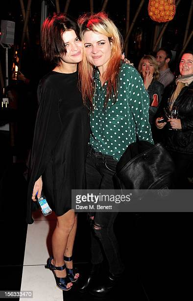 Pixie Geldof and Alison Mosshart attend the opening of new restaurant SushiSamba London in Heron Tower on November 13 2012 in London England