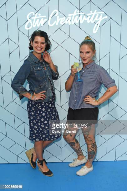 Pixie Geldof and artist Alex May Hughes attend the launch of Bombay Sapphire's 'Canvas' a destination designed to stir creativity and inspire...