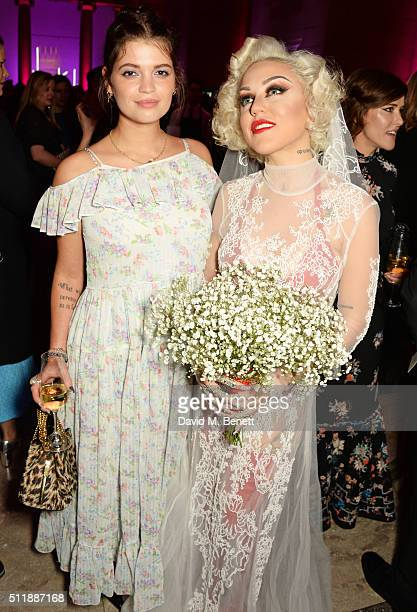 Pixie Geldof and Brooke Candy attend The Elle Style Awards 2016 after party on February 23 2016 in London England