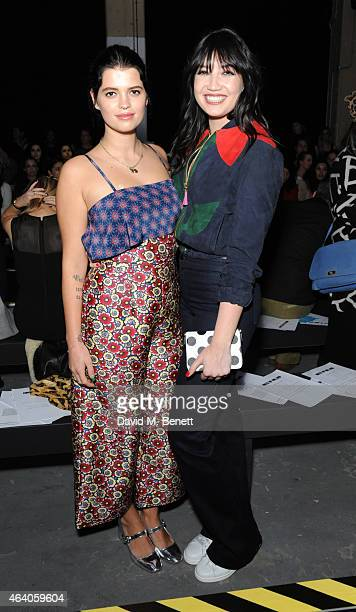 Pixie Geldof and Daisy Lowe attend the House of Holland show during London Fashion Week Fall/Winter 2015/16 at University of Westminster on February...