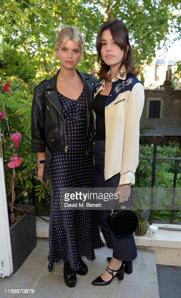 Pixie Geldof and Gala Gordon attend the Missoma Summer Party at the Residence of the Embassy of Colombia on July 03 2019 in London England